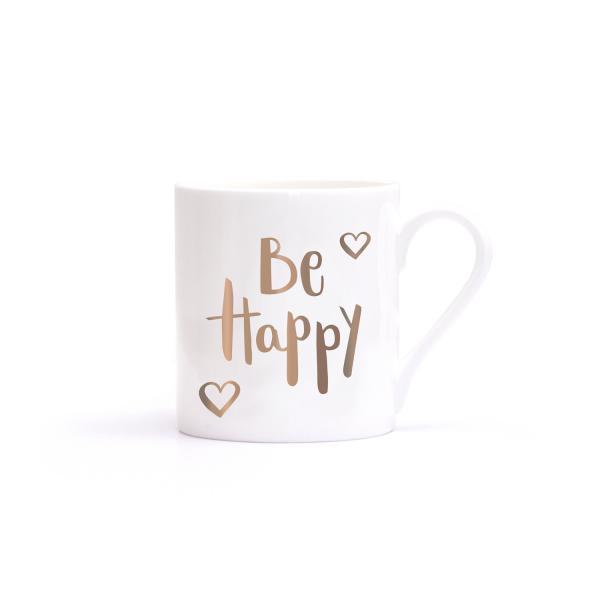 Be Happy Becher