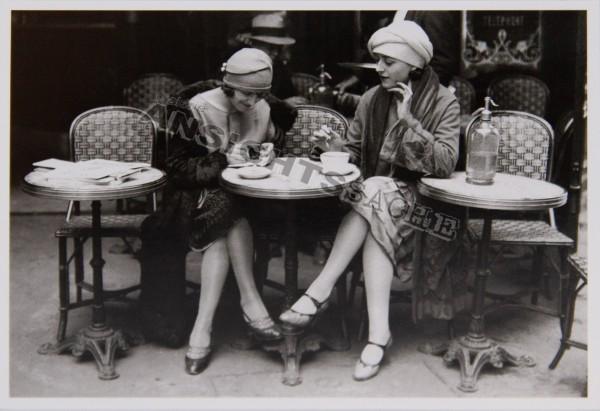 Postkarte Frauen im Café
