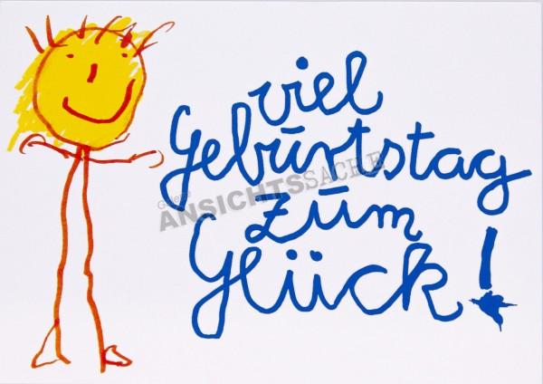 """Geburtstagskarte """"viel Geburtstag zum Glück!"""""""