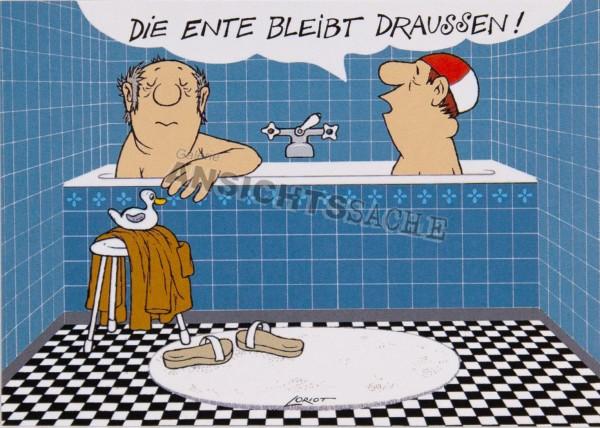 """Postkarte """"Loriot - Die Ente"""""""