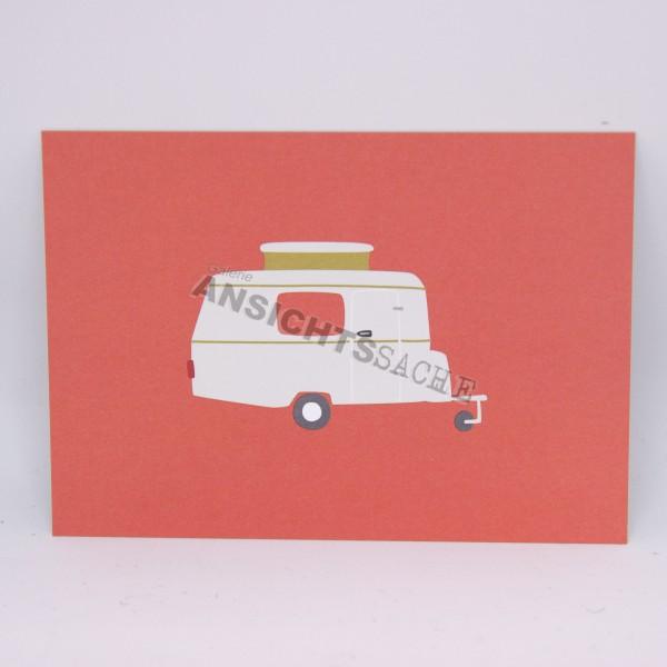 Postkarte Wohnwagen
