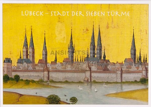 Postkarte Stadt der 7 Türme - H.Rode