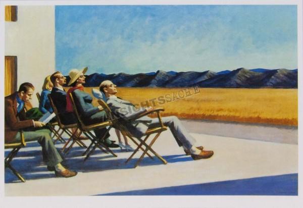"""Postkarte """"Edward Hopper - People in the Sun"""""""