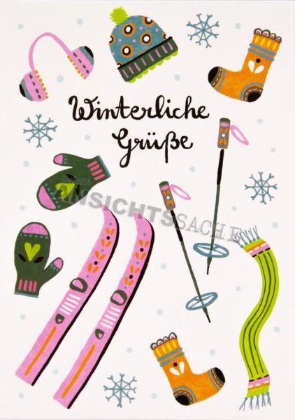 """Weihnachtskarte """"Winterliche Grüße"""""""