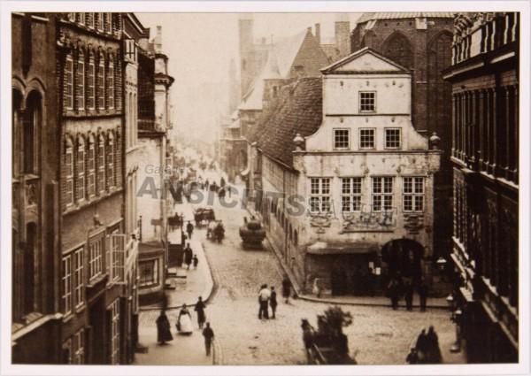 Postkarte Blick durch die Breite Straße