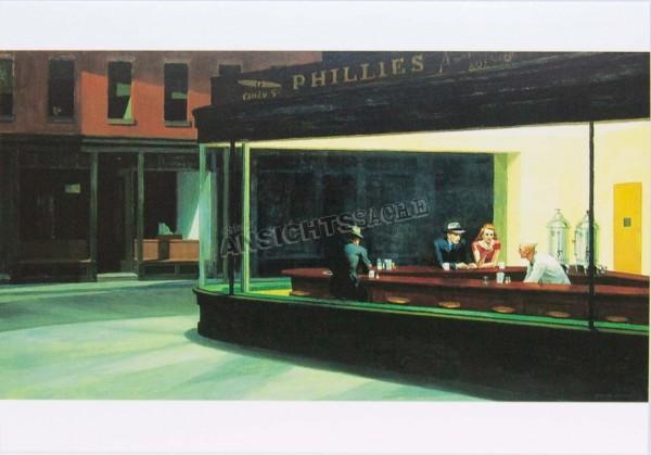 "Postkarte ""Edward Hopper - Nighthawks"""