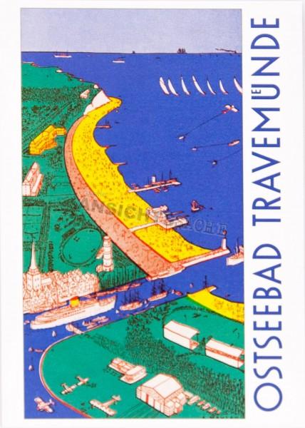 Postkarte Ostseebad Travemünde - A.Mahlau