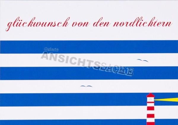 """Geburtstagskarte """"Glückwunsch von den Nordlichtern"""""""