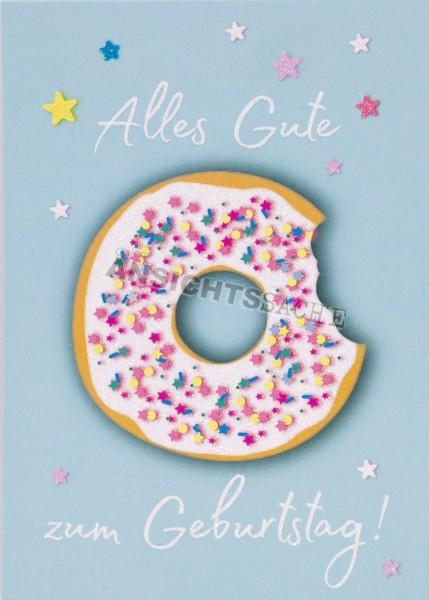 Geburtstagskarte Glitzer-Donut