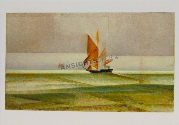 """Postkarte """"Lyonel Feininger - Ostsee-Schoner"""""""