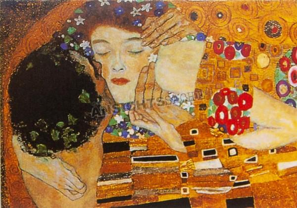 "Postkarte ""Gustav Klimt - Der Kuss"""