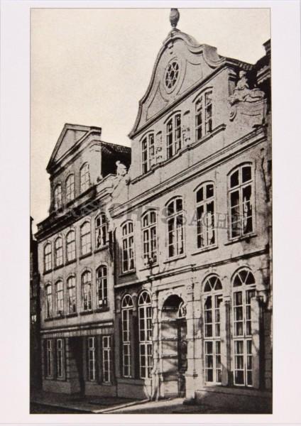 Postkarte Ältestes Foto des Buddenbrookhauses um 1870