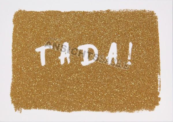 "Glitzer-Postkarte ""TADA!"""
