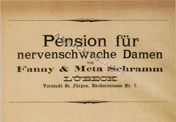 """Postkarte """"Pension für nervenschwache Damen"""""""