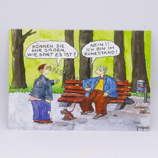 """Postkarte """"Nein!! Ich bin im Ruhestand!"""""""