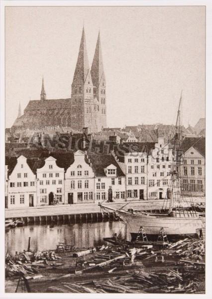 Postkarte St.Marien & Holzschiffwerft
