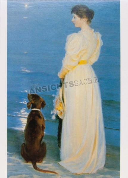 """Postkarte """"P.S. Krøyer - Sommeraften på Skagen"""""""