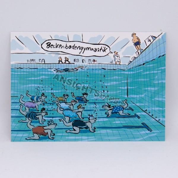 "Postkarte ""Beckenbodengymnastik"""