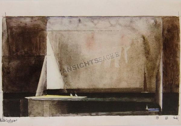 """Postkarte """"Lyonel Feininger - Drei Segelboote"""""""