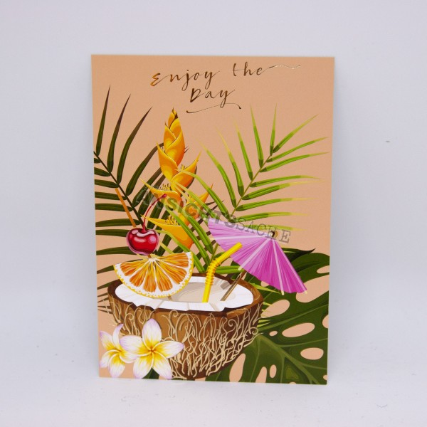 """Postkarte """"Enjoy the day"""""""