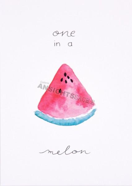 """Postkarte """"one in a melon"""""""