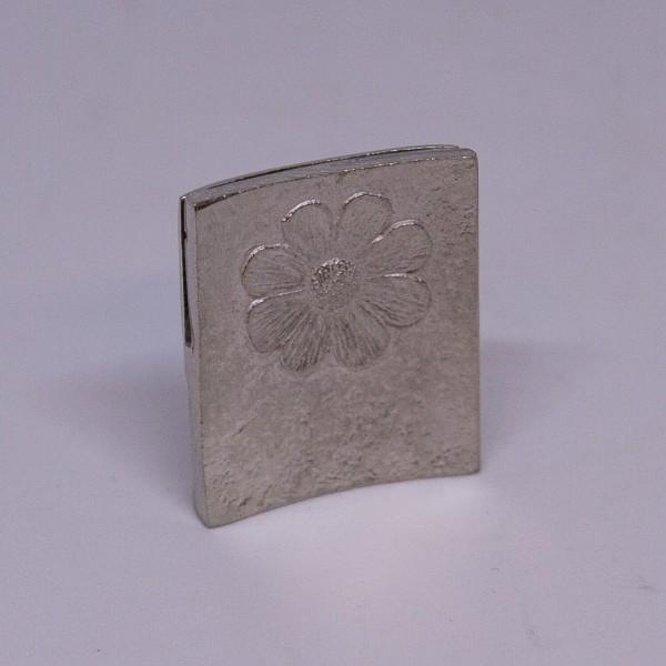Zinn-Kartenhalter Blume