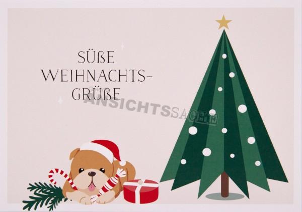 """Weihnachtskarte """"Süße Weihnachts-Grüße"""""""
