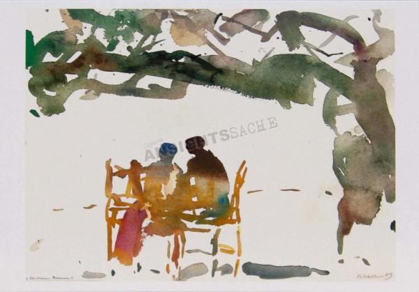 """Postkarte """"Oskar Koller - Unterm Baum"""""""