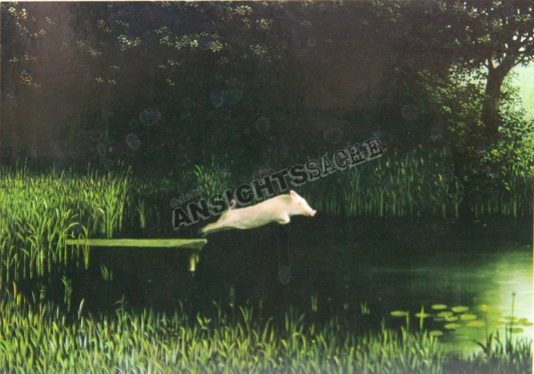 Postkarte Köhlers Schwein