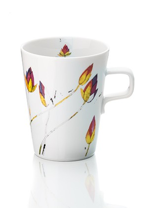 Teetasse Lotusblumen