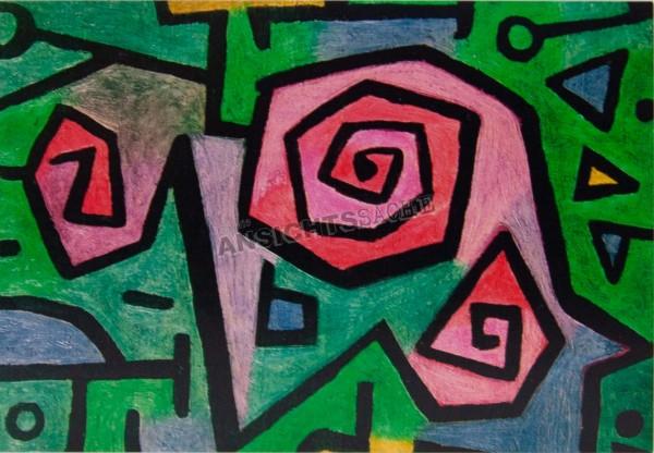 """Postkarte """"Paul Klee - Heldenhafte Rosen"""""""