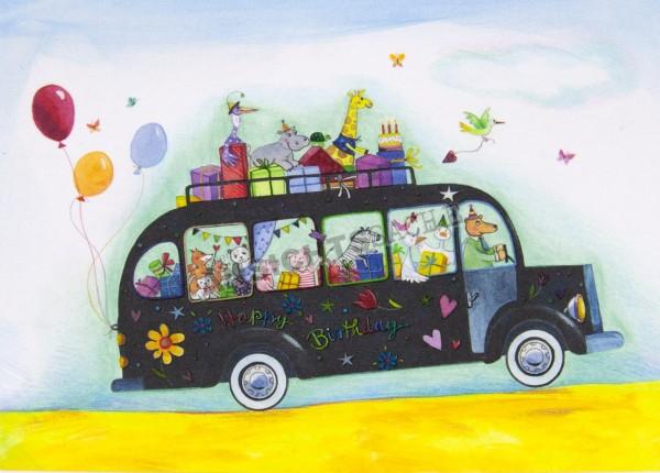 Geburtstagskarte Bus