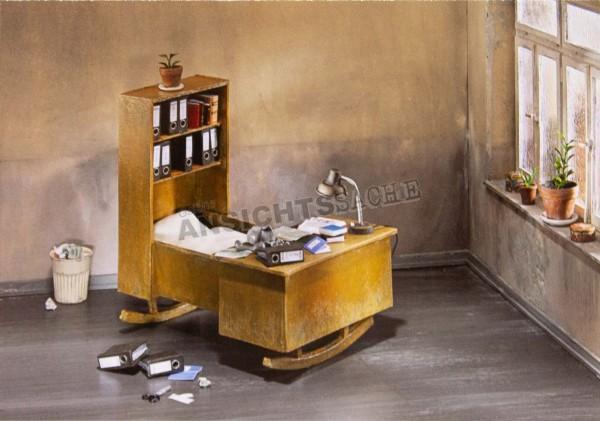"Postkarte ""Frank Kunert - Büroschlaf"""
