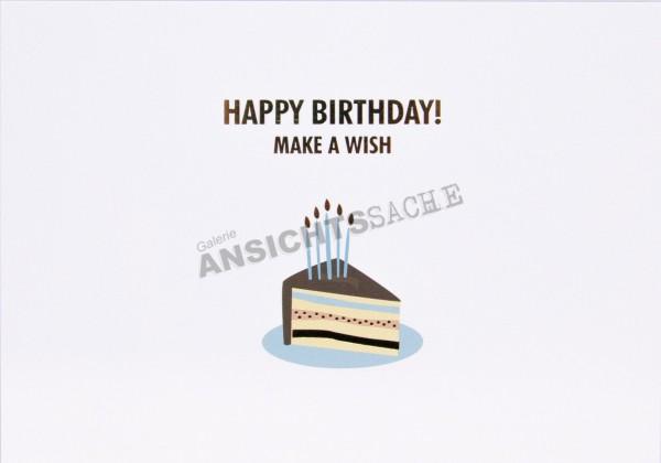 "Geburtstagskarte ""Make a wish"""