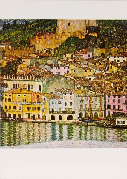 "Postkarte ""Gustav Klimt - Malcesine am Gardasee"""