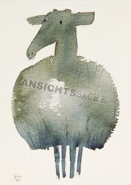 Postkarte Schaf von J.Wolf