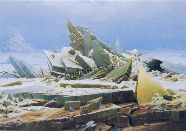 """Postkarte """"Caspar David Friedrich - Das Eismeer (Die gescheiterte Hoffnung)"""""""