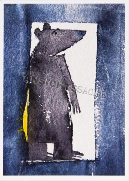 Postkarte Türsteh-Bär von J.Wolf