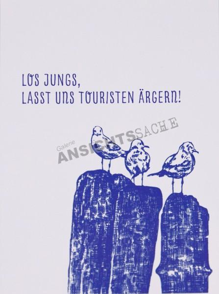 "Postkarte ""Los Jungs, lasst uns Touristen ärgern"""