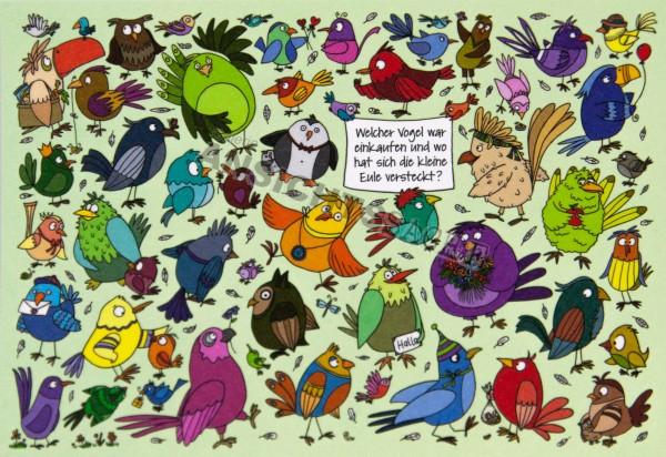 Postkarte Vogel-Suchbild
