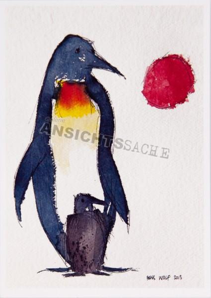 Postkarte Pinguin von J.Wolf