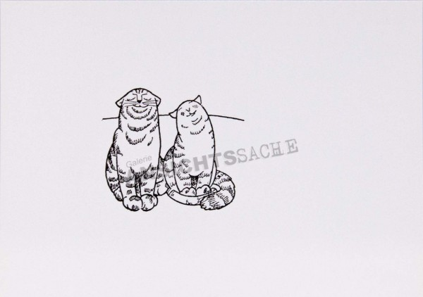 "Postkarte ""Olaf Gulbransson - Katzenpaar"""
