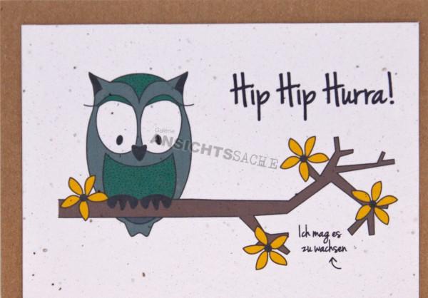 "Pflanzbare Karte ""Hip Hip Hurra!"""
