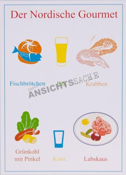 """Postkarte """"Das Nordische Gourmet"""""""
