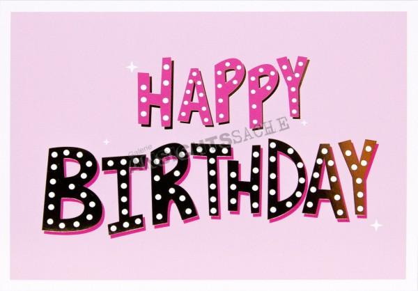 Geburtstagskarte Pink