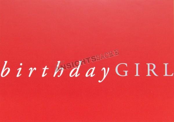 "Geburtstagskarte ""birthday GIRL"""
