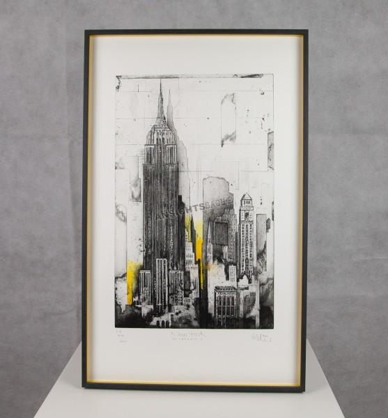 "Gerahmte Radierung ""New York - Midtown I"""