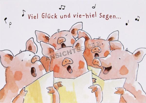 """Geburtstagskarte """"Viel Glück und vie-hiel Segen..."""""""