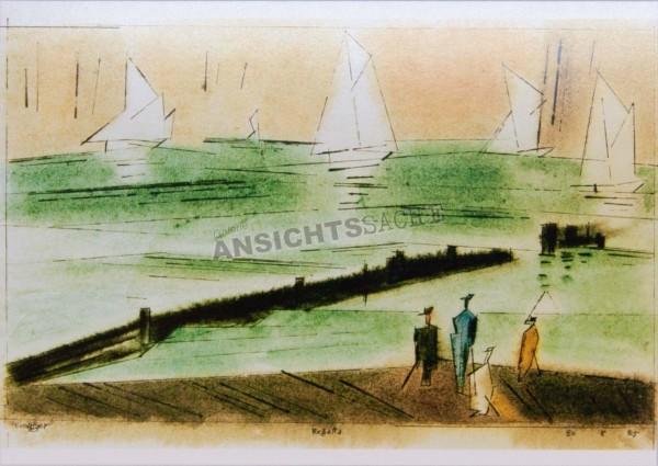 "Postkarte ""Lyonel Feininger - Regatta"""