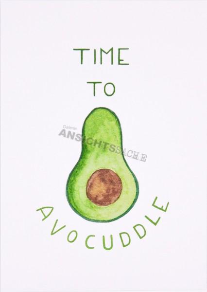 "Postkarte ""Time to avocuddle"""